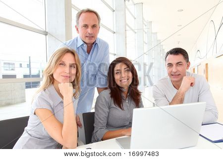 Group of business people in a work meeting