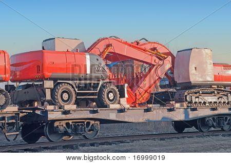 Bulldozer On A Vagon