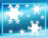 Snowflakes On Blue #2