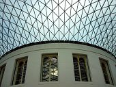 Glass Ceiling And Interior Of British Museum, London, Uk