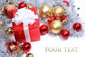 stock photo of christmas-present  - red christmas present - JPG