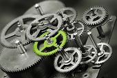 pic of gear wheels  - gears - JPG