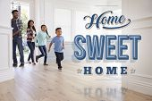 Hispanic Family In Their New Home Sweet Home poster