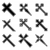 pic of christian cross  - Vector christian crosses - JPG