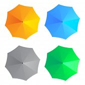 vector umbrellas