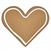 picture of ero  - vector gingerbread heart - JPG