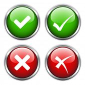 foto of check mark  - vector check mark buttons - JPG