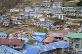 foto of sherpa  - The nice sherpa village Namche Bazar  - JPG