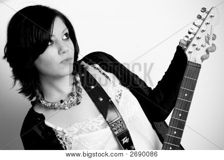 Teen Girl With Guitar