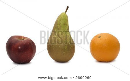 Apple, Orange And Pear