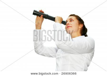 Young Woman With Telescope
