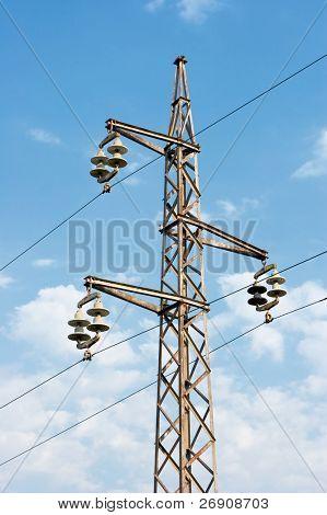 transmission line with high voltage cabels