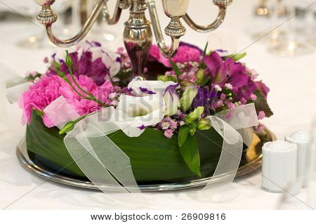 Bouquet on a wedding table