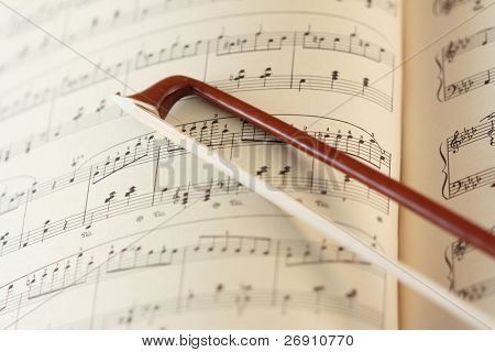 fiddle-stick on the music sheet