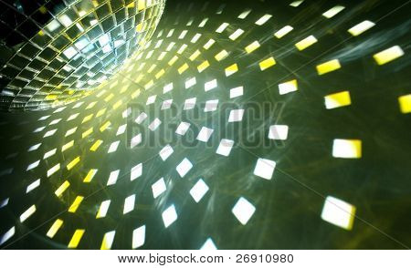 disco ball with shiny effect