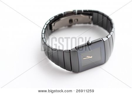 elegant wristwatch on grey