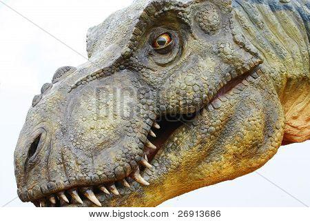 Dinossauro Tiranossauro Rex em branco