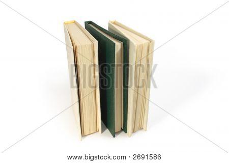 Three Standing Books