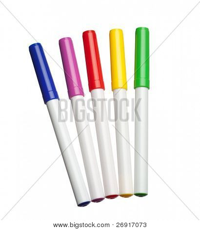 multicolor markers isolated