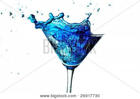 blue splashing cocktail