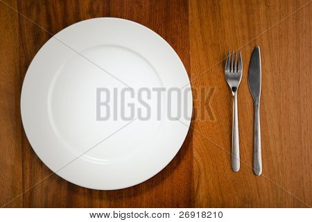 place setting and plate
