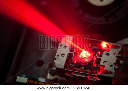 working laser lens of dvd