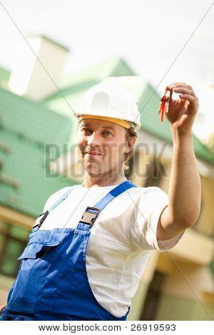 Gerente de Construtor entregar a casa