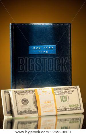 livro de dicas de negócios e dinheiro