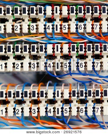 telefone ou painéis de menu de controle com fios