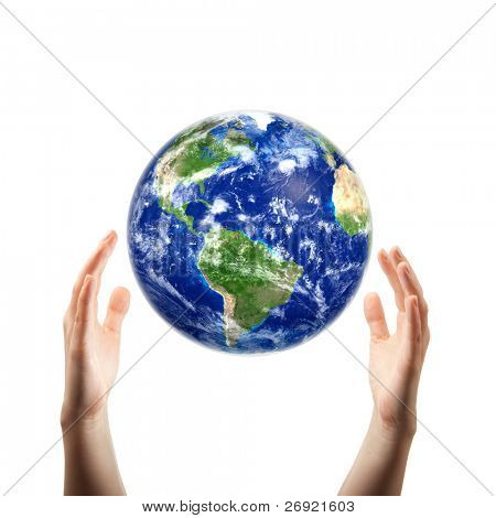 hands catching earth