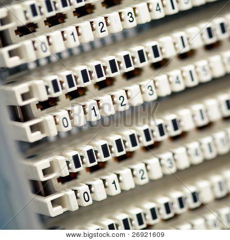 painel central de telefone