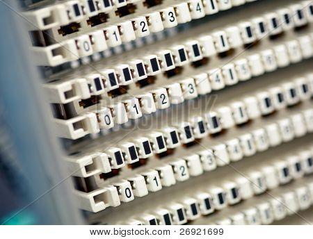 painel central de telefone vazio