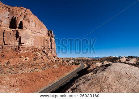 Bicentennial Highway at Hite bridge in Glen Canyon National Recreational Area