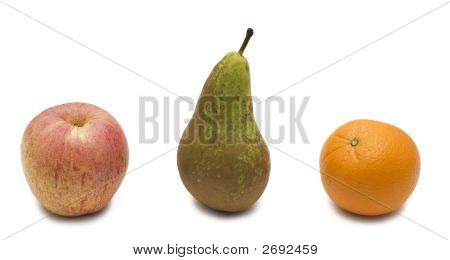 Pear, Apple And Orange