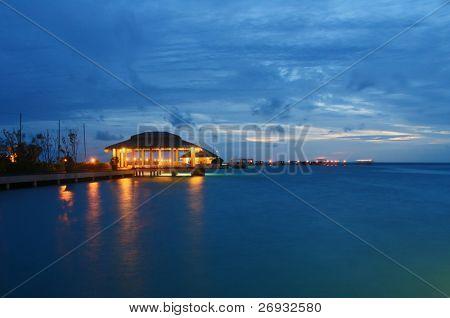 Indian ocean at dusk