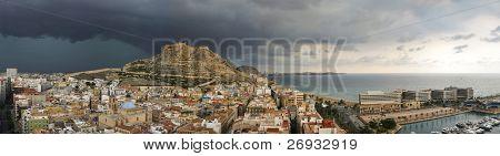 Alicante before storm
