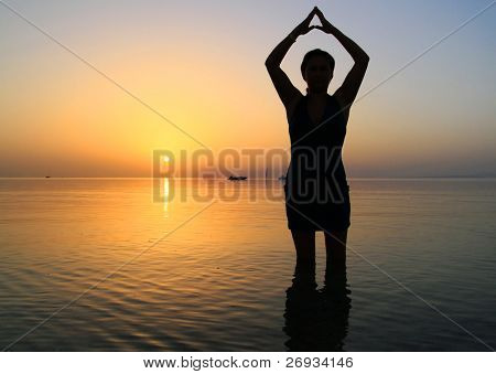 Meditation at sunrise - Egypt