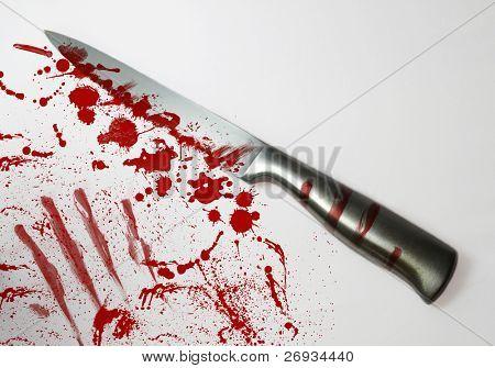 Blood spattered knife