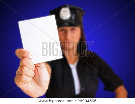 Ticket from sexy police woman