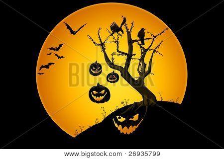 Halloween scenery