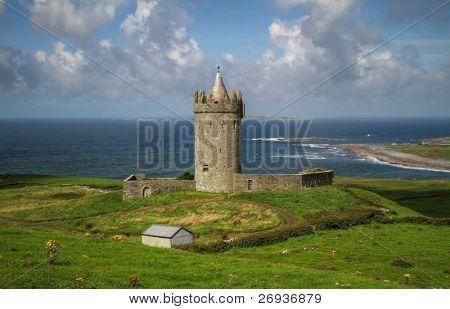 Doonagore castle in Ireland