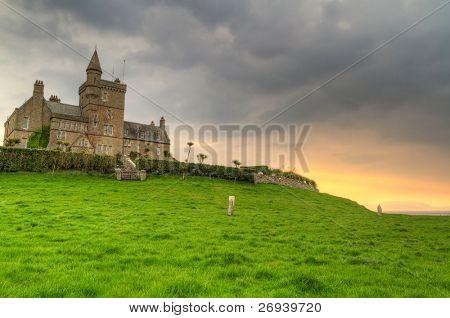 Classiebawn Castle on Mullaghmore Head at sunset - Co. Sligo - Ireland