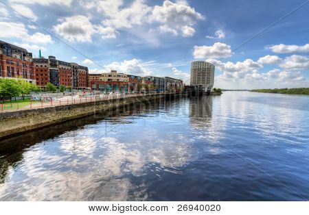 Limerick city view from Shannon river - Ireland