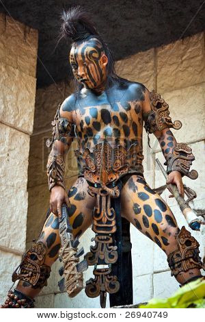 XCARET, MEXICO - JULY 19: Pre-Hispanic Mayan performance called