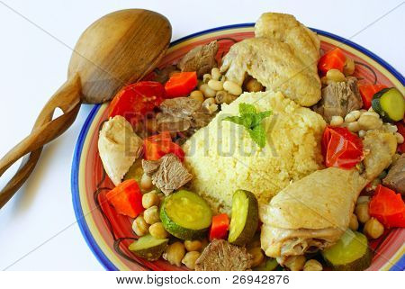 Couscous with lamb and chicken
