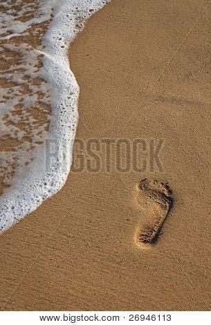 Footprint on the beach
