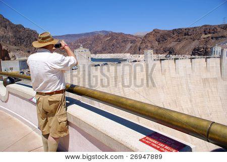 Senior watching Hoover Dam