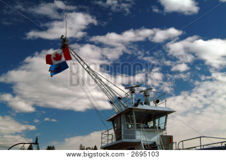 Wheelhouse Of A Ferry