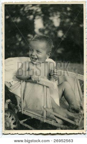 Vintage photo of baby boy