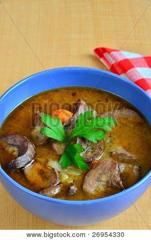 Kidney soup - favorite Irish or Scottish starter